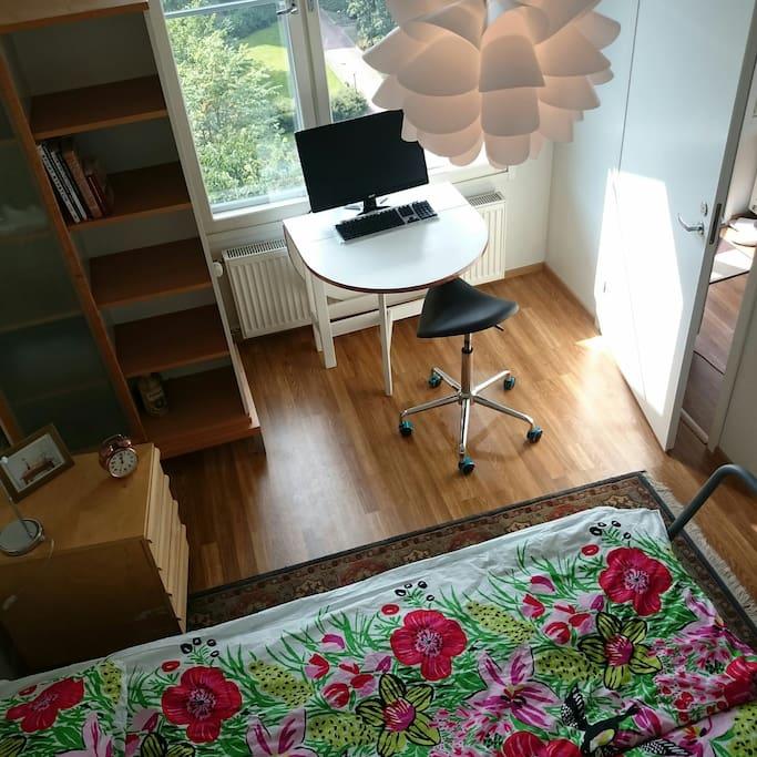 Bedroom and workspace