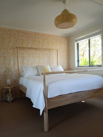 Pineapple room - Queen bed with lots of wardrobe space and double aspect windows