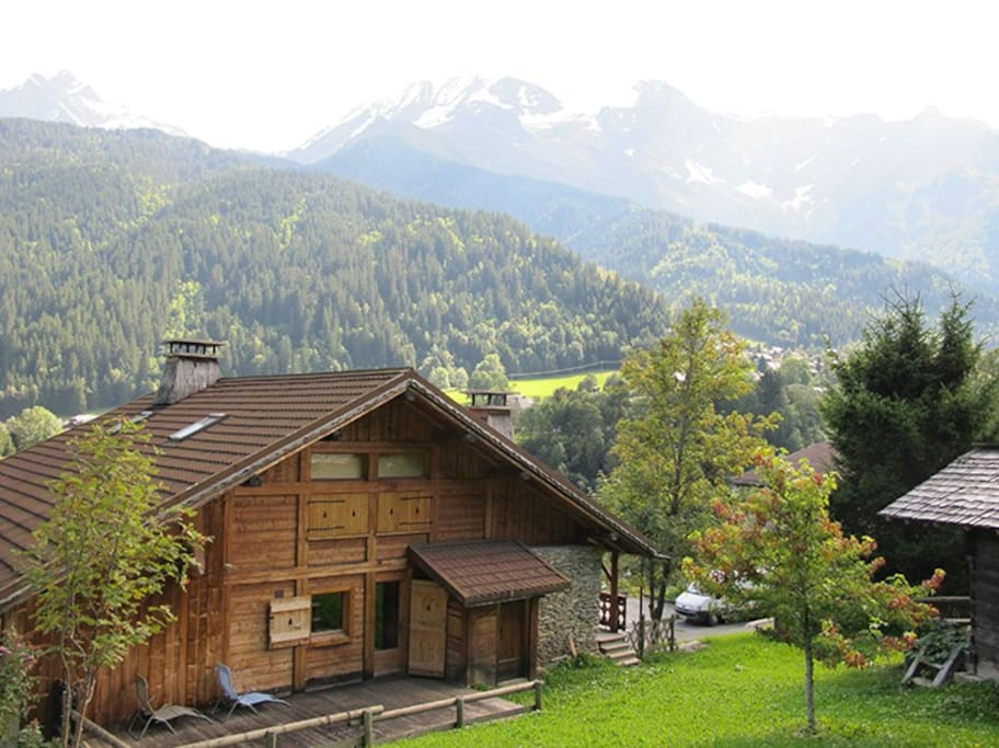 Summer view of the chalet