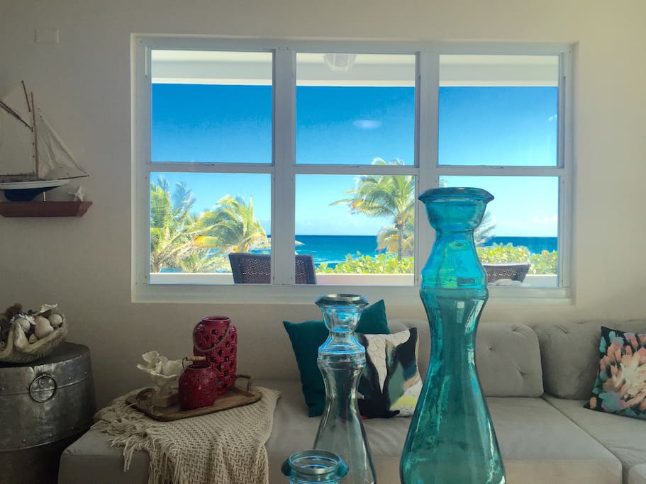 Beautiful ocean views from the living room