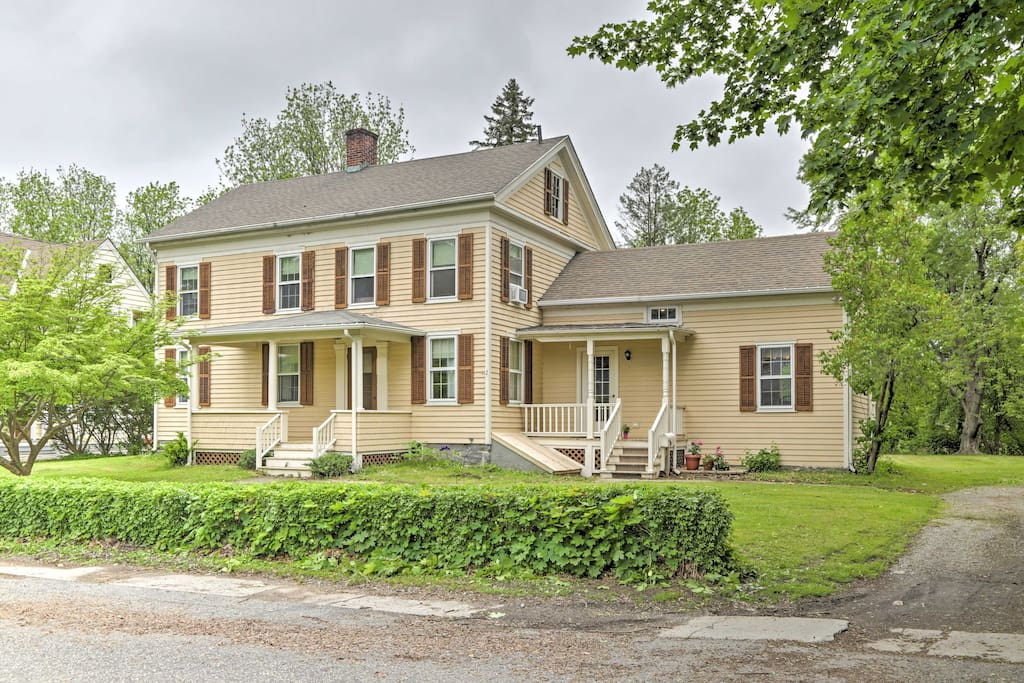 The charming home features a traditional ambiance, yet has been nicely renovated with modern appliances.