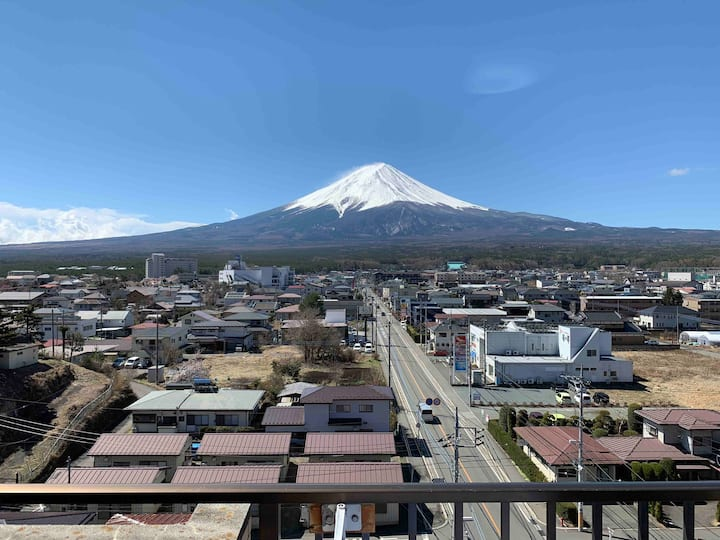 Kawaguchiko station, great view of mt Fuji !