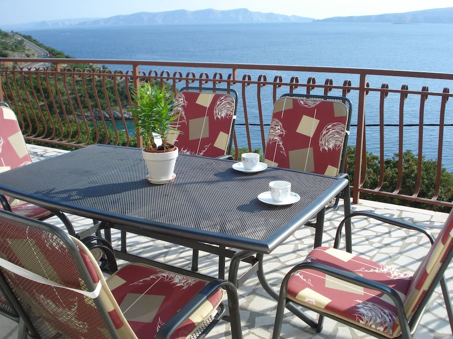 Terrace with the sea view