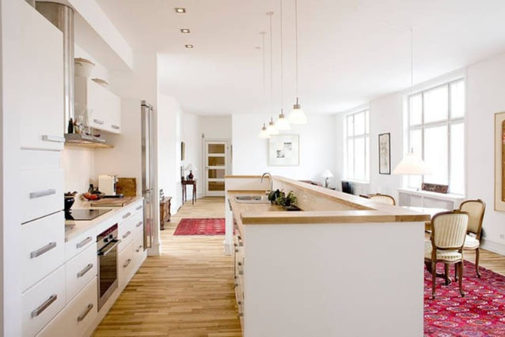 Large kitchen area
