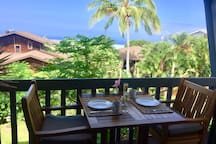 Hawaii, where you can have every meal outside on the private lanai...