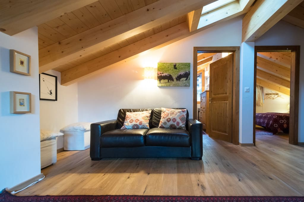 """Mezzanine with 42"""" tv, freeview and Netflix, two double bedrooms, bathroom and laundry"""