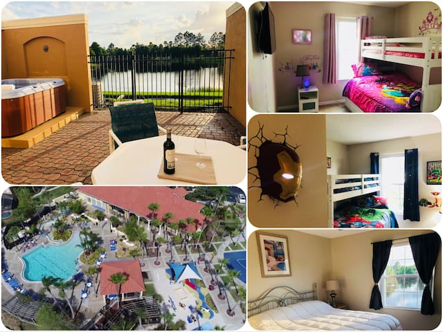 Lakeview 3 Bed Kissimmee Resort near Disney parks