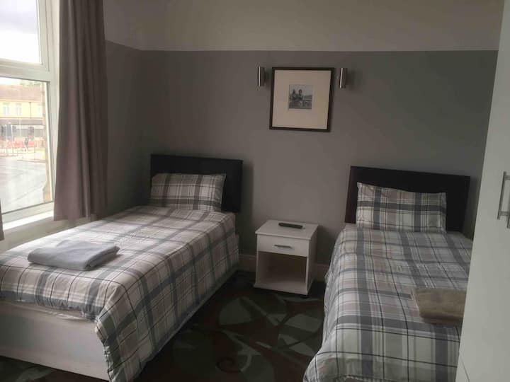 Basic Hotel Room, twin beds (Room 3)