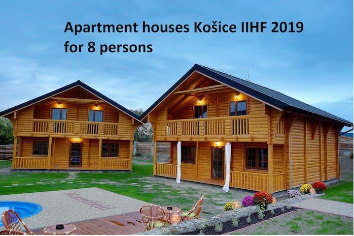 Zrubový dom pre 8 - 10 hostí v Košiciach