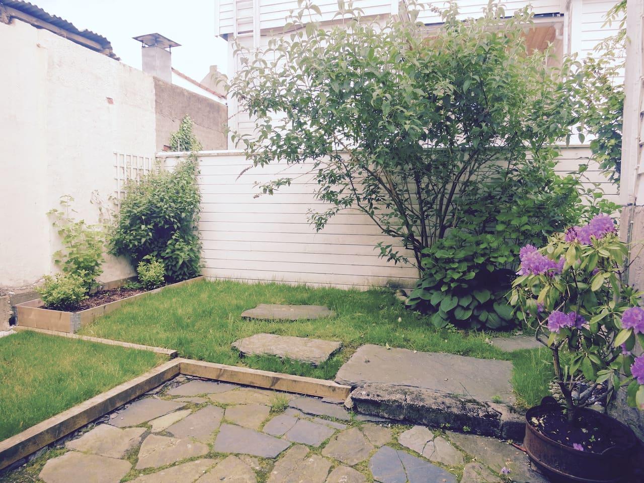 Garden outside the entrance