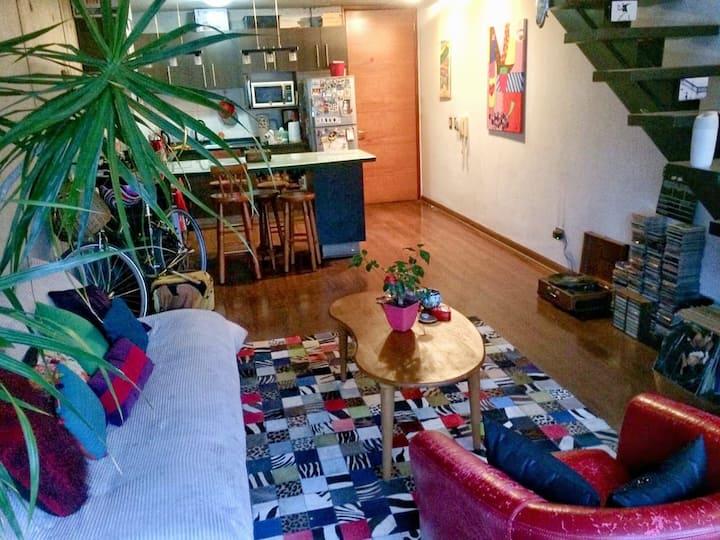 Bello y hogareño Loft en Antonio Varas con Bilbao