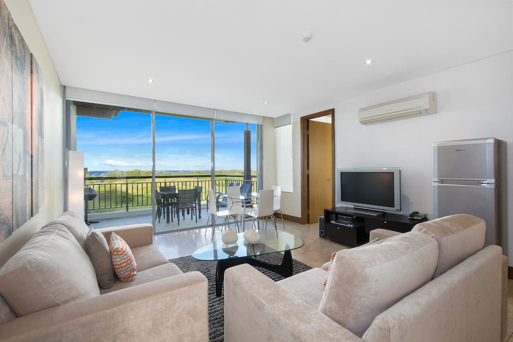 Lounge with Coastal Bush and Pacific Ocean Frontage