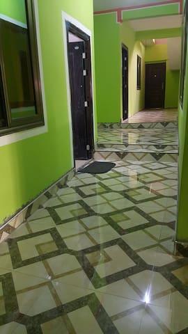 Corridor to room
