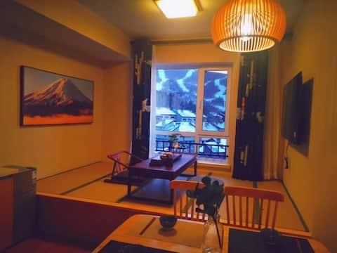 万科松花湖滑雪场  巨幕 投影 浴缸 榻榻米 雪景房 万科松花湖  滑雪 青山公寓