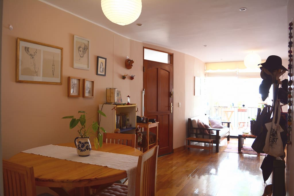 A cozy, calm and full-of-plants apartment in San Isidro