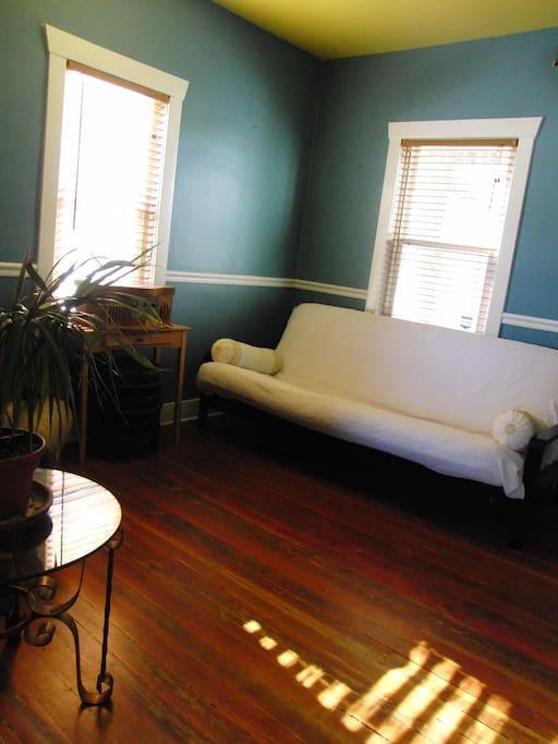 Remodeled original Hardwood Flooring - Living Room