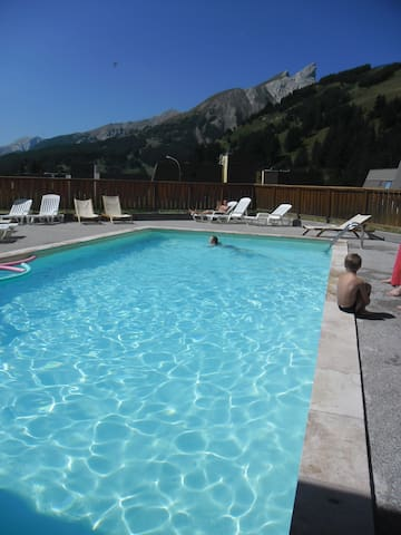 appartement spacieux 4 pers piscine  Foux D Allos - Allos - Appartement