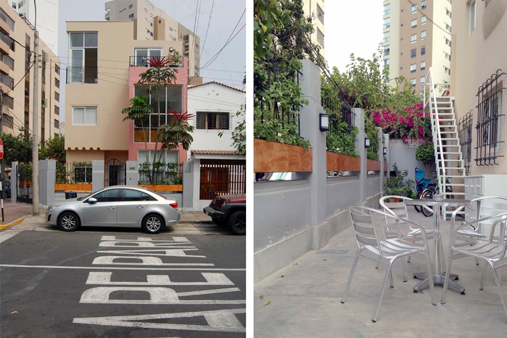 Our house sits right at a quite and beautiful corner of the historical centre of Miraflores!