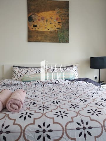 Queen Size Bed with Decoration