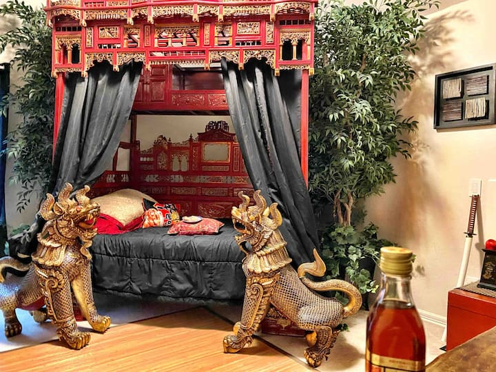 Chinese Themed Room in a Tropical Paradise