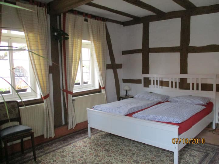 Burgmannenhaus, (Steinau an der Straße), Doppelzimmer mit Dusche und WC, 22qm
