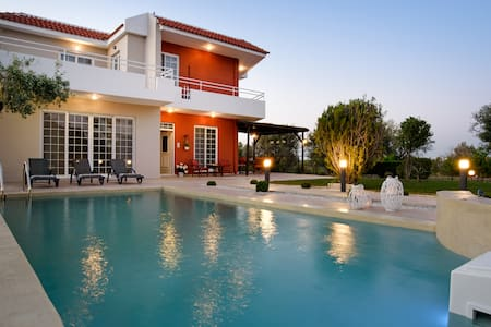 Great pool villa, stylish and homely, west Rhodes