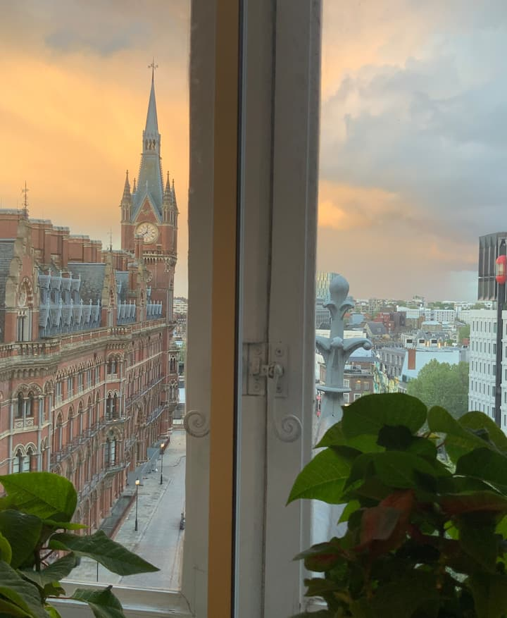 St Pancras Clock Tower View