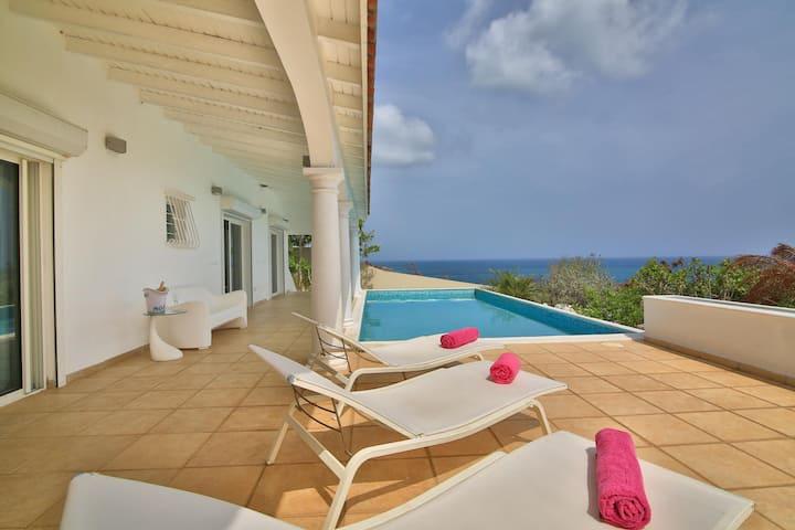 Stunning 5 bedroom villa with 180° ocean view !