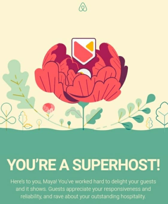 Thanks to every guest has appreciated my attentions during their stay,,and took time to describe it Thanks to your honesty I'm a superhost