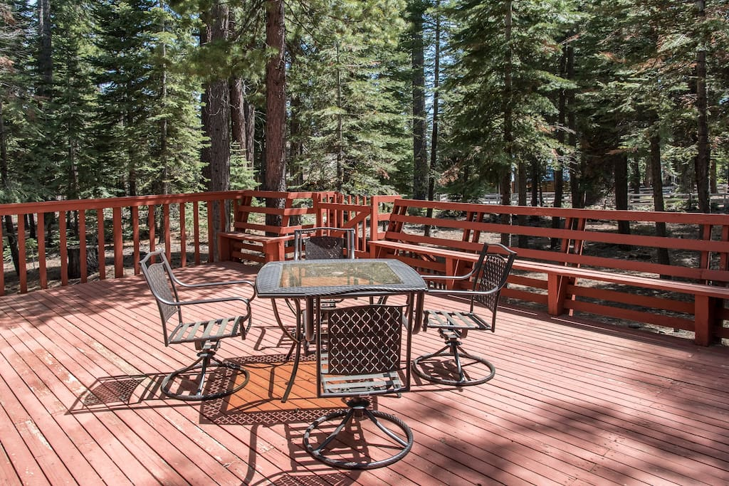 Soak up the sun while surrounded by soaring pines.
