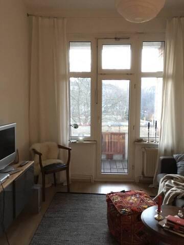 Balcony room in cosy apartement