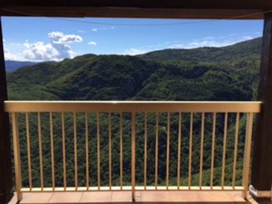 View from the balcony towards Alpes Maritimes