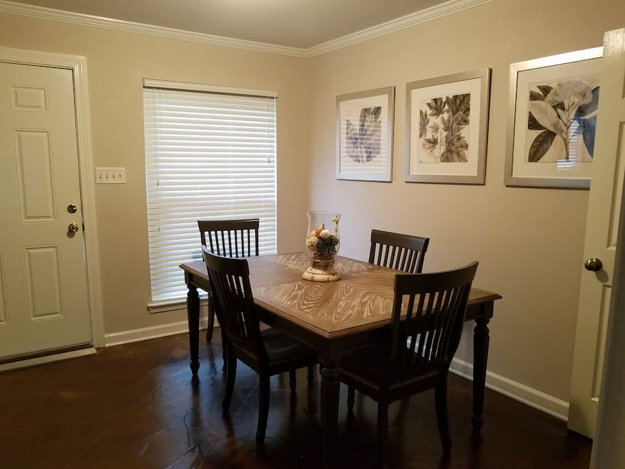 Roomy dining area