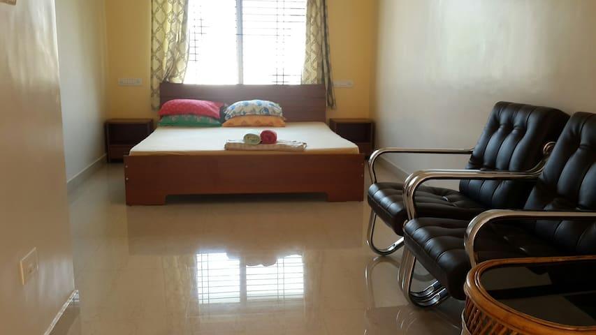 Melrose Place Gokulam large studio apartment.