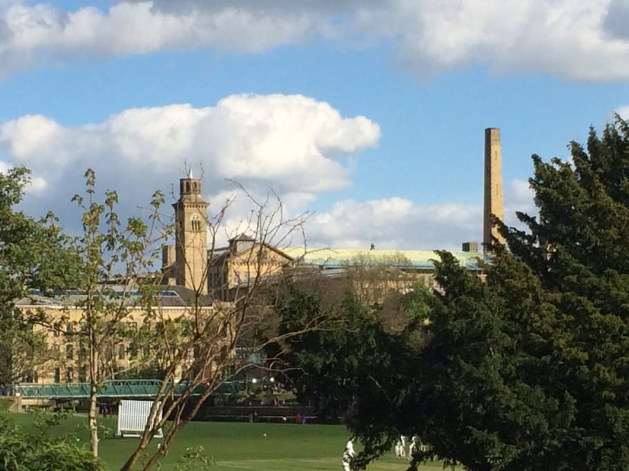 View from the house to Salts Mill