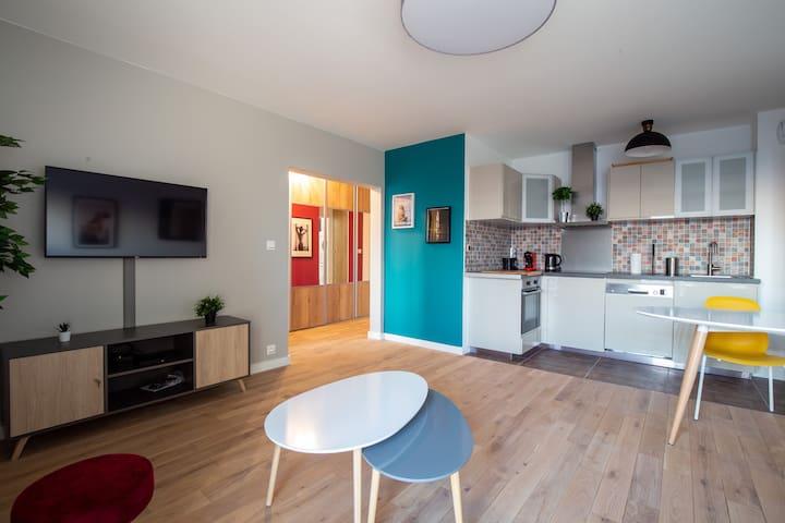 Cosy & Design 2BR/6P Apartment Paris porte d'Ivry