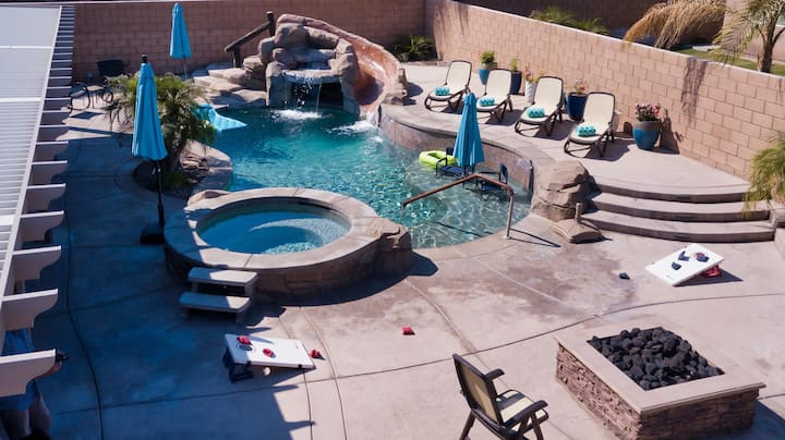 BBL - Backyard Bliss-Your Own Private Pool w/Slide