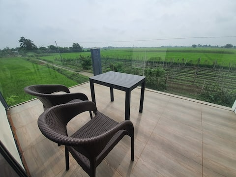 Farm staycation office with view of Mount Arayat!
