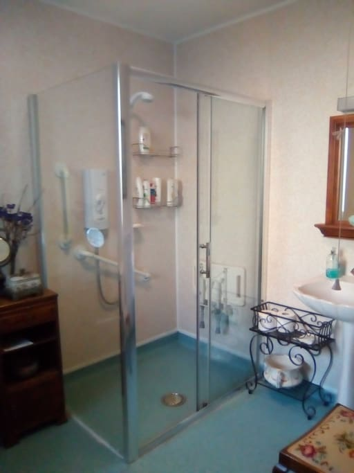 Shower room and toilet.