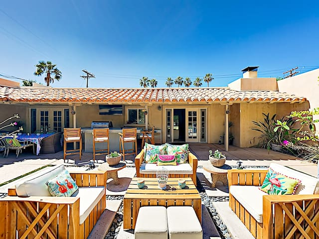The centerpiece of this heavenly property is the private courtyard.