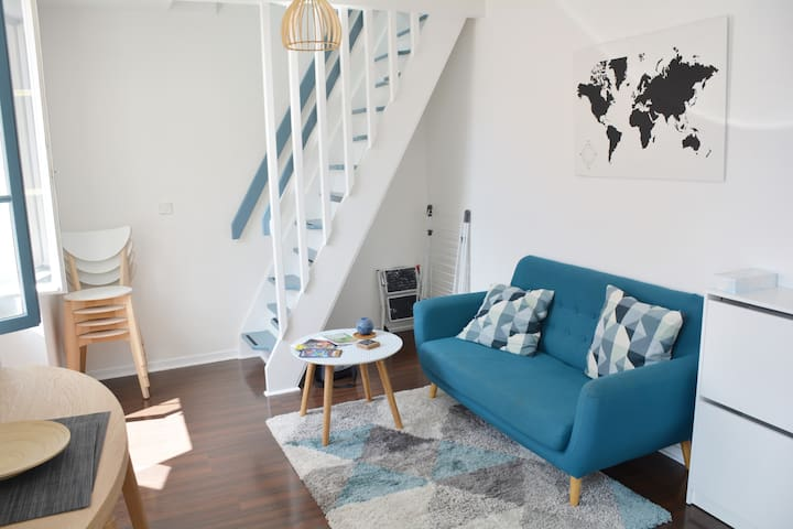 Appartement cosy centre Biarritz, plage 100m, wifi
