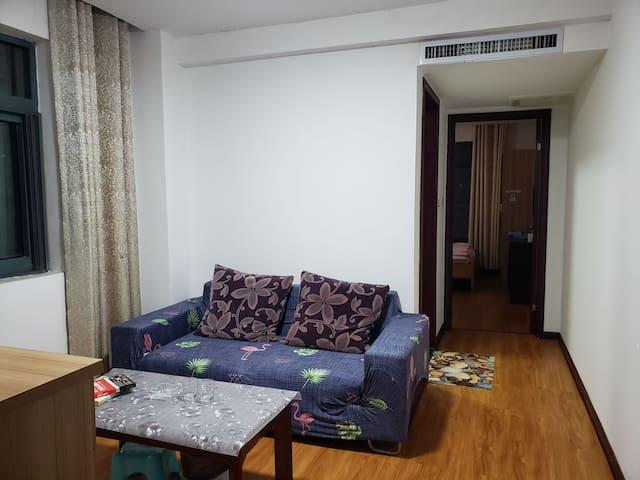 东站银泰城旁大床一室一厅一卫一阳台景观公寓房整租