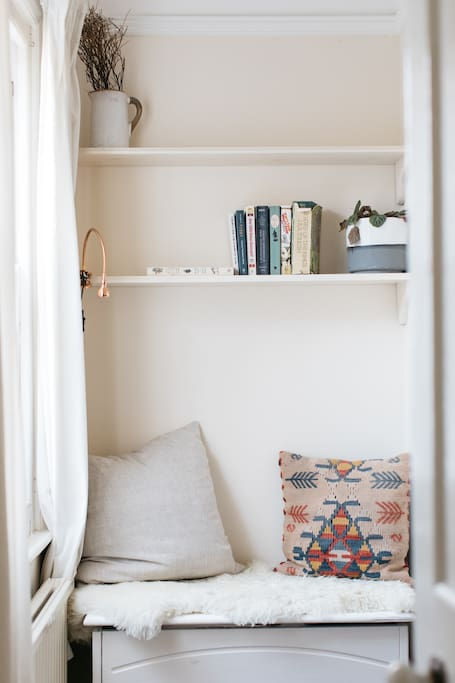 Reading nook in the room