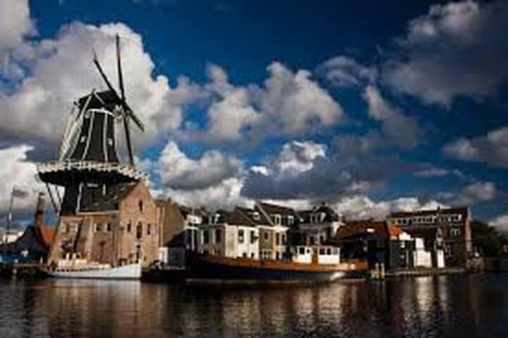 De Adriaan, famous mill in the city center of Haarlem