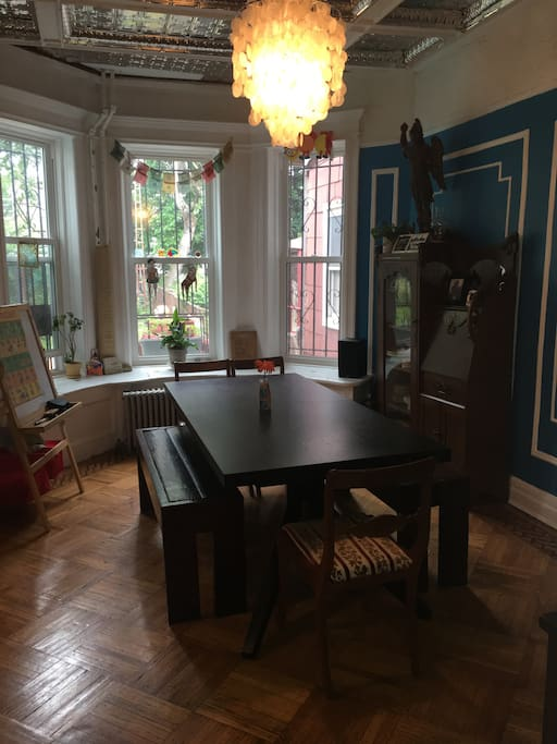 Dining Room with access to huge backyard and BBQ