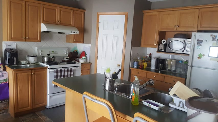 You can share the full kitchen on the main floor with us.