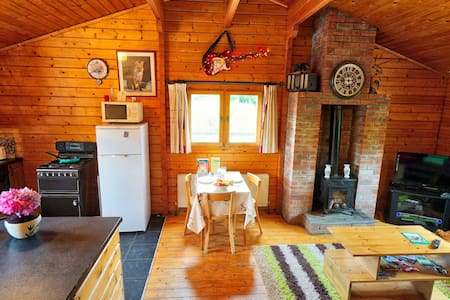 Red SquirrelLodge.Every booking has  entire cabin.