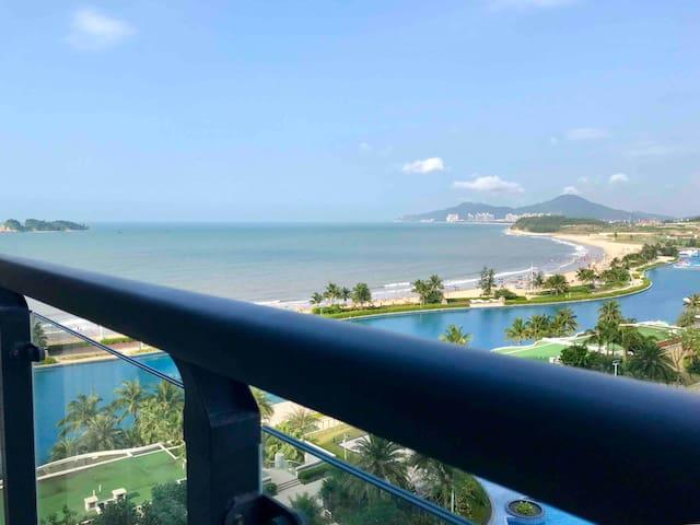 阳江海陵岛十里银滩黄金海岸楼王海景房80米到免费沙滩楼下泳池水上乐园 ,近南海1号闸坡大角弯北洛秘境