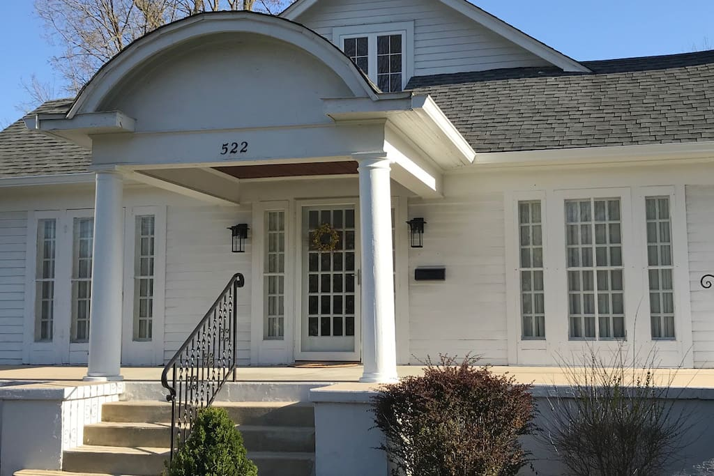 The front porch is a great place to relax in the evening or enjoy a cup of coffee in the morning. The front door is equipped with a keyless entry system.