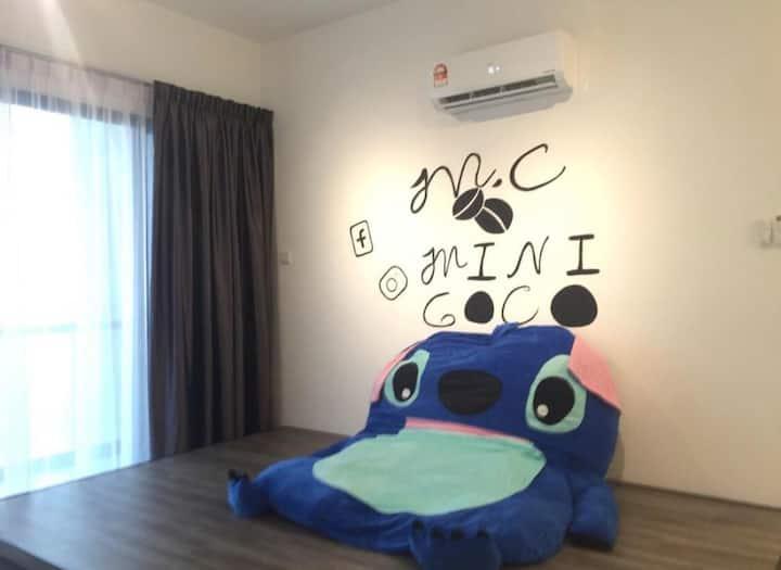 Stitch@Mini Coco Homestay/Atlantis/1room/Jonker St